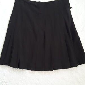 Norma Kamali Little Black Skirt w/Pleats